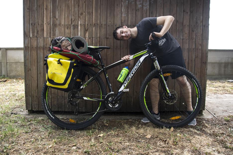 Alberto Montemurro con la sua bici