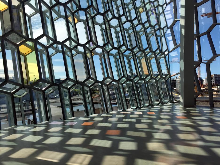 Le vetrate dell'Harpa