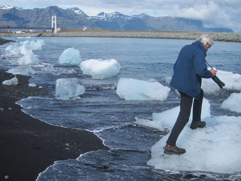 a passeggio sugli iceberg