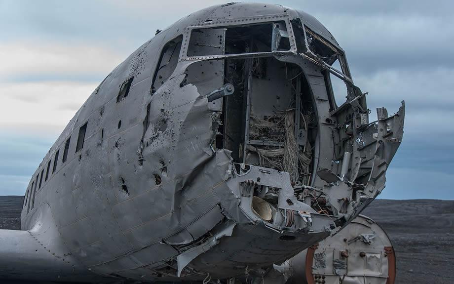 aereo abbandonato in Islanda