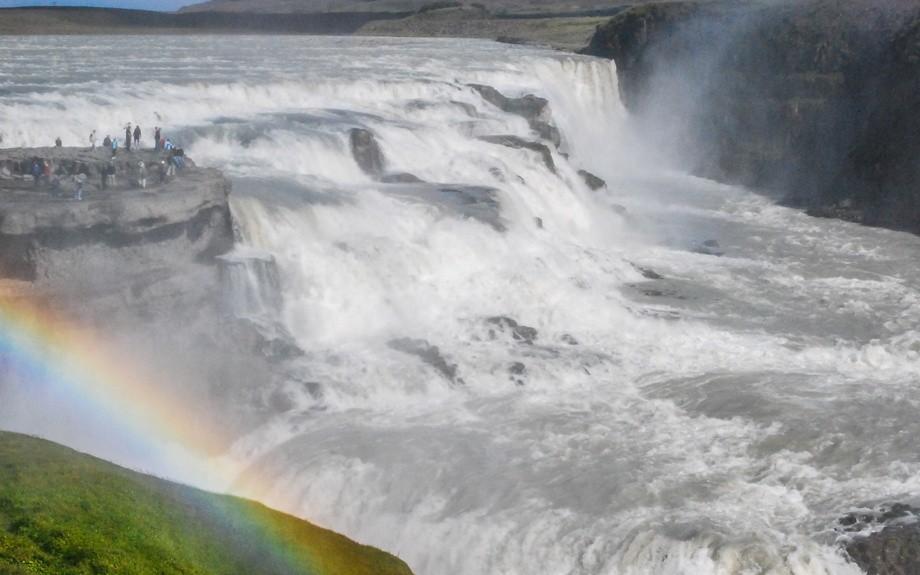 arcobaleno sulla cascata di Gullfoss