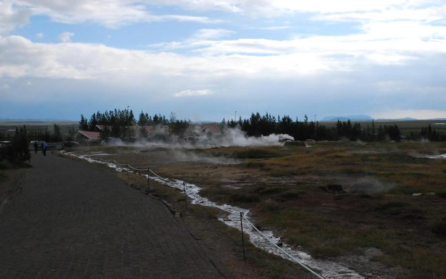 Avvicinamento all'area dei Geysir