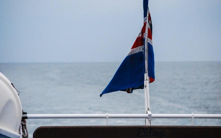bandiera islandese a poppa