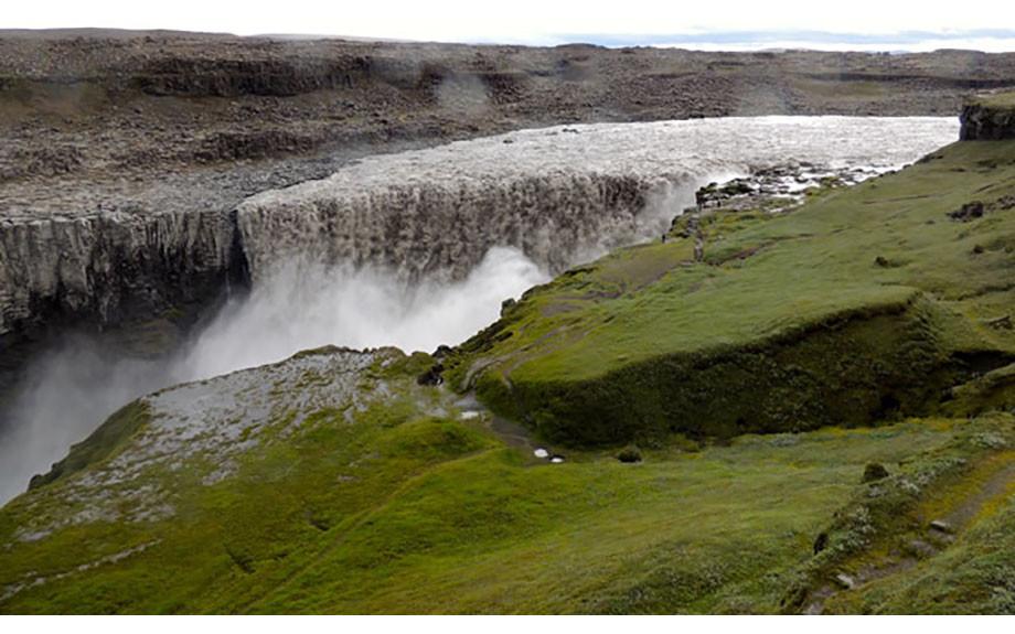 panorama della cascata di Dettifoss