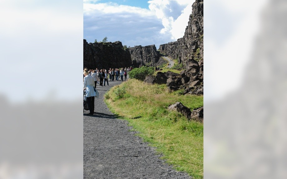 camminamento a Thingvellir