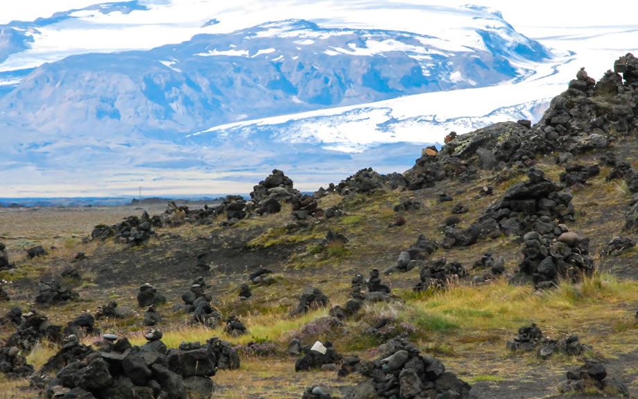 creste di lava nel parco di Laufskálavarða