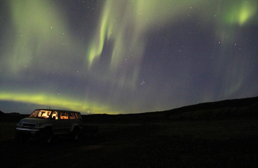 spettacolare aurora boreale