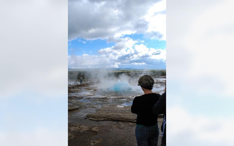 eruzione del geysir