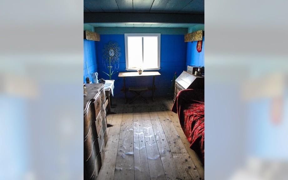 Una stanza di Glaumbaer in Islanda