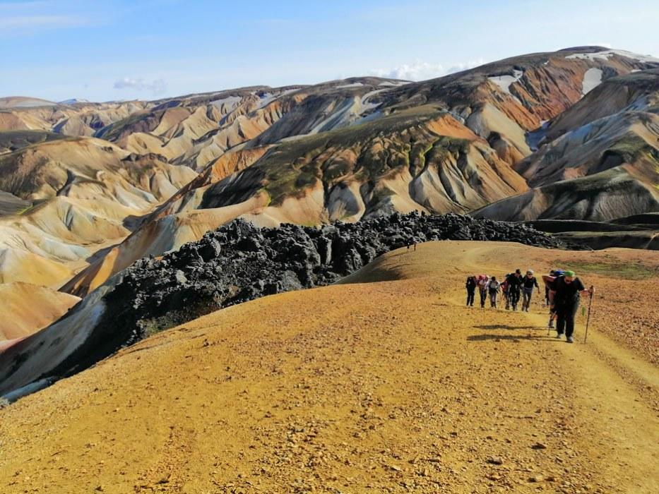 hiking in Islanda