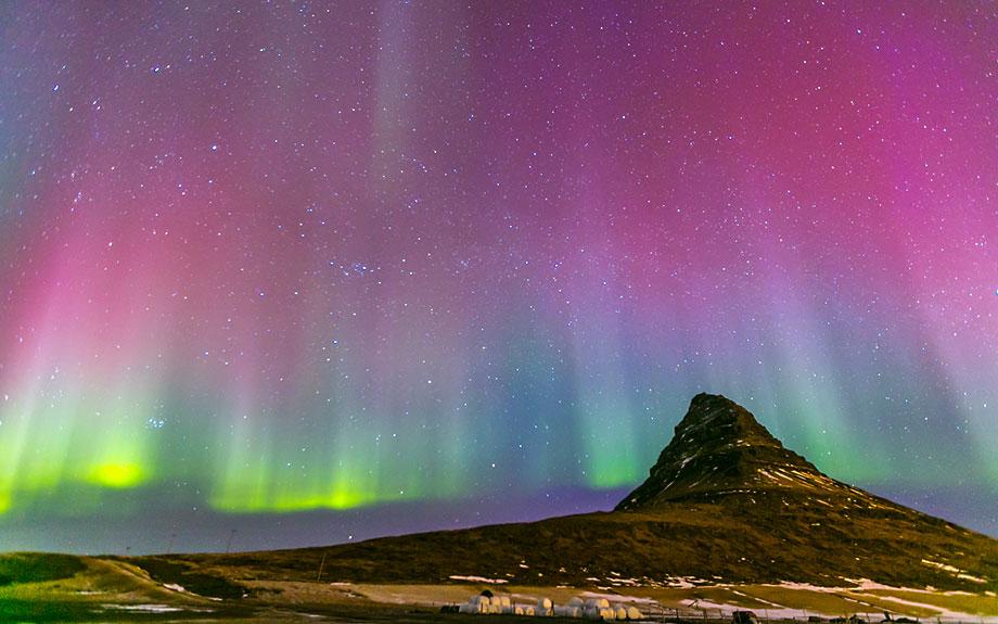 i colori spettacolari dell'aurora boreale