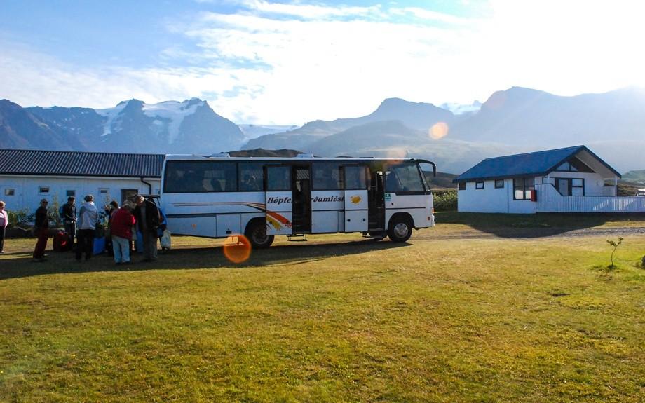 Islanda in autobus