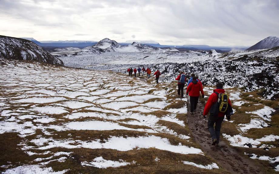trekking in inverno