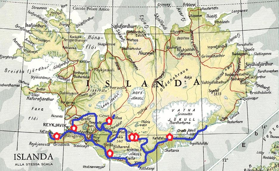 itinerario in islanda in 8 giorni