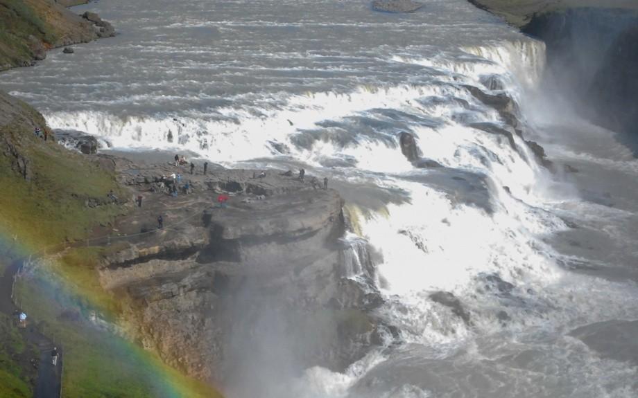 la cascata di Gullfoss in Islanda