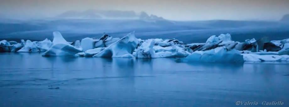 laguna glaciale di notte