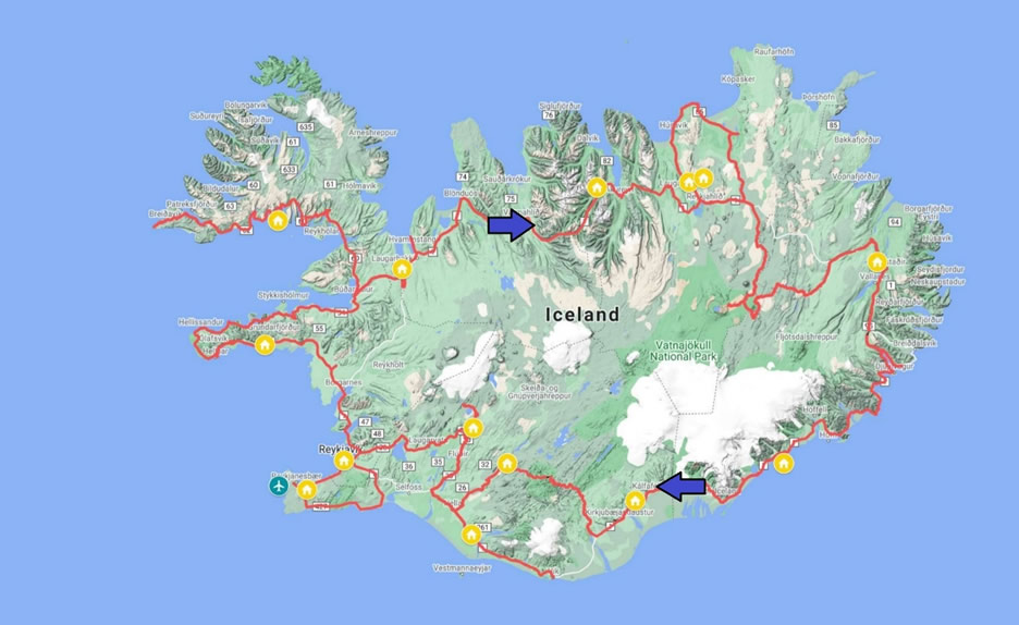mappa Islanda paradiso boreale