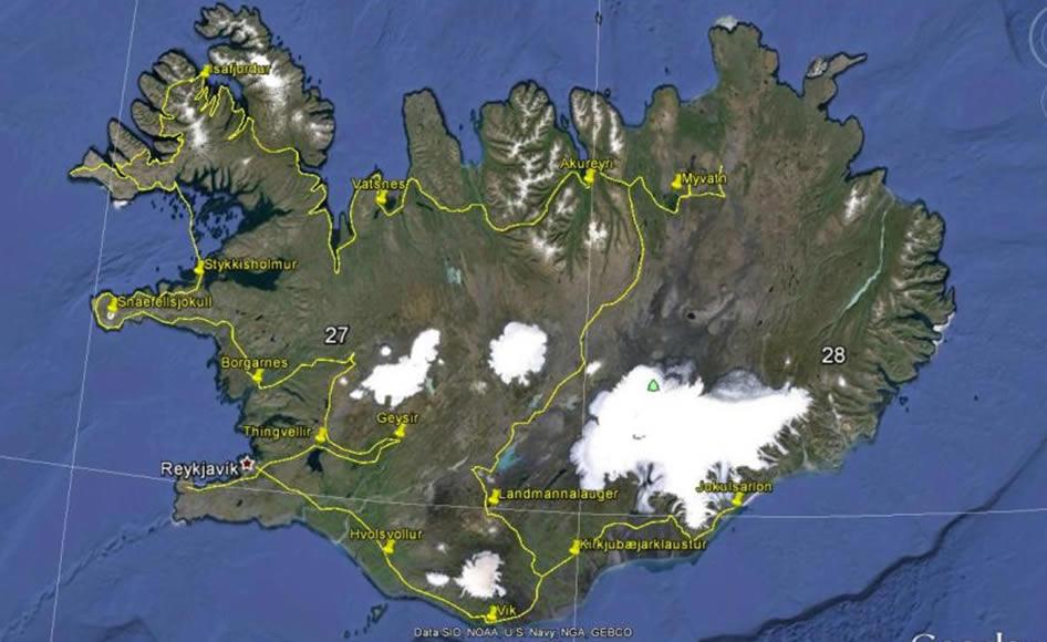 mappa - cartina - viaggio completo nuova proposta