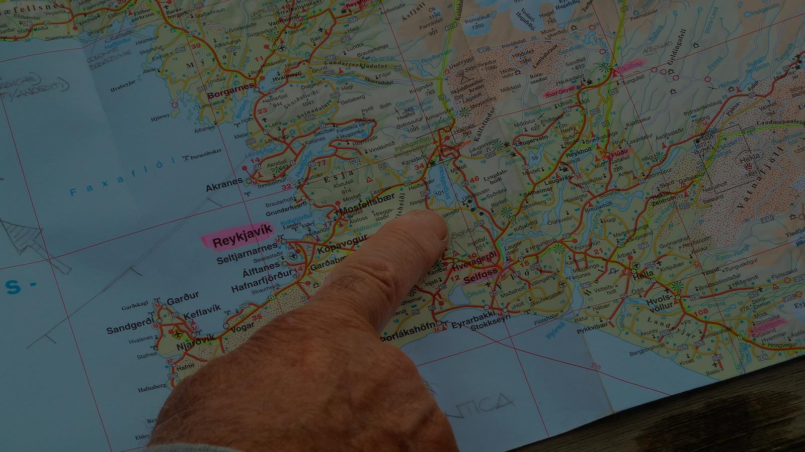 cartina dell'Islanda