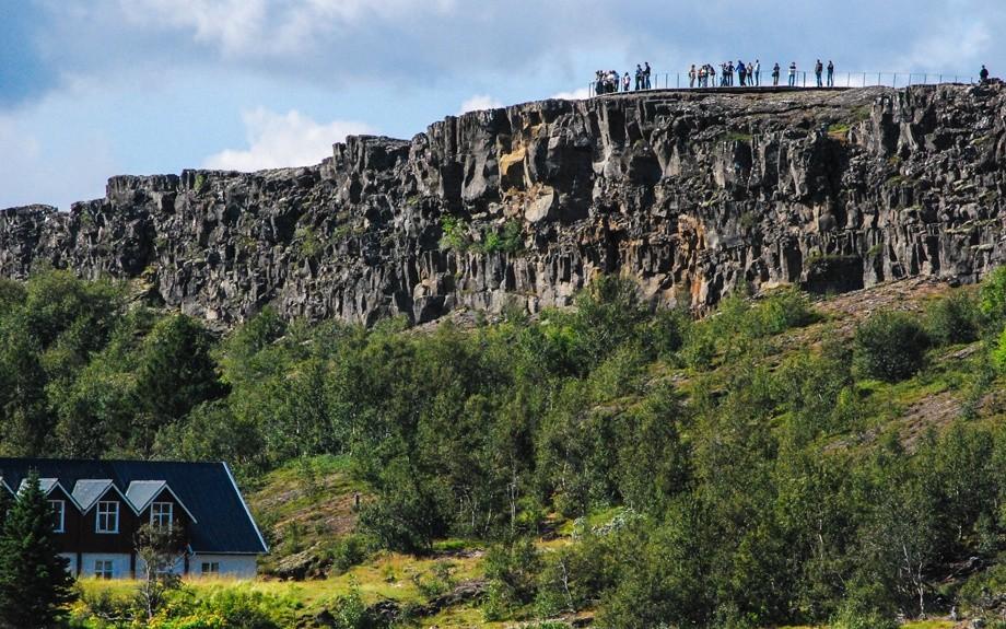 veduta del parlamento islandese a Thingvellir
