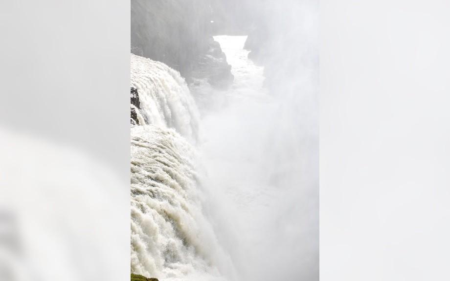 particolare della cascata