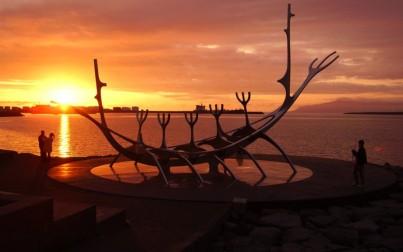 Reykjavik al tramonto