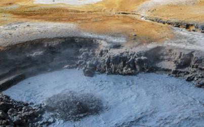 roccia fusa in ebollizione