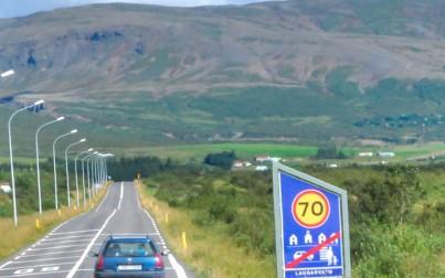 segnaletica stradale in Islanda