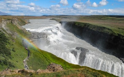 spettacolare cascata di Gullfoss
