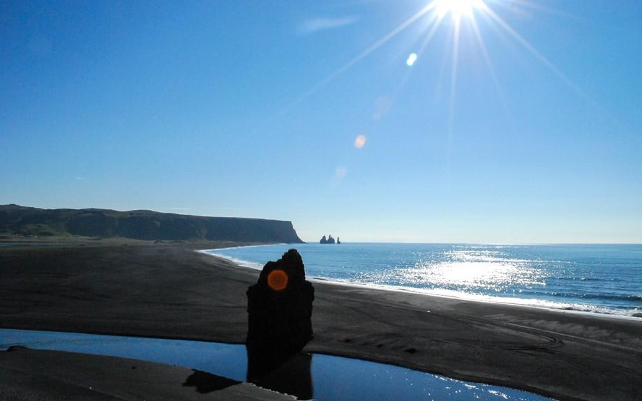 spiaggia di Reinishverfi paesaggio