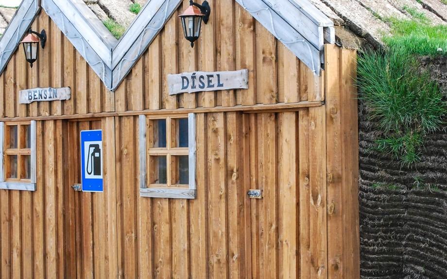 stazione di servizio in Islanda