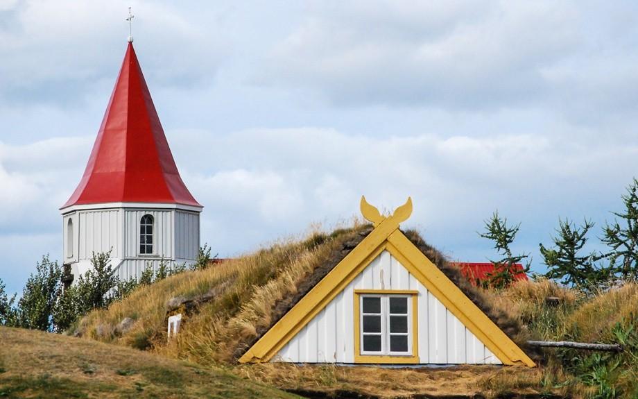 tetto della chiesa di Glaumbaer