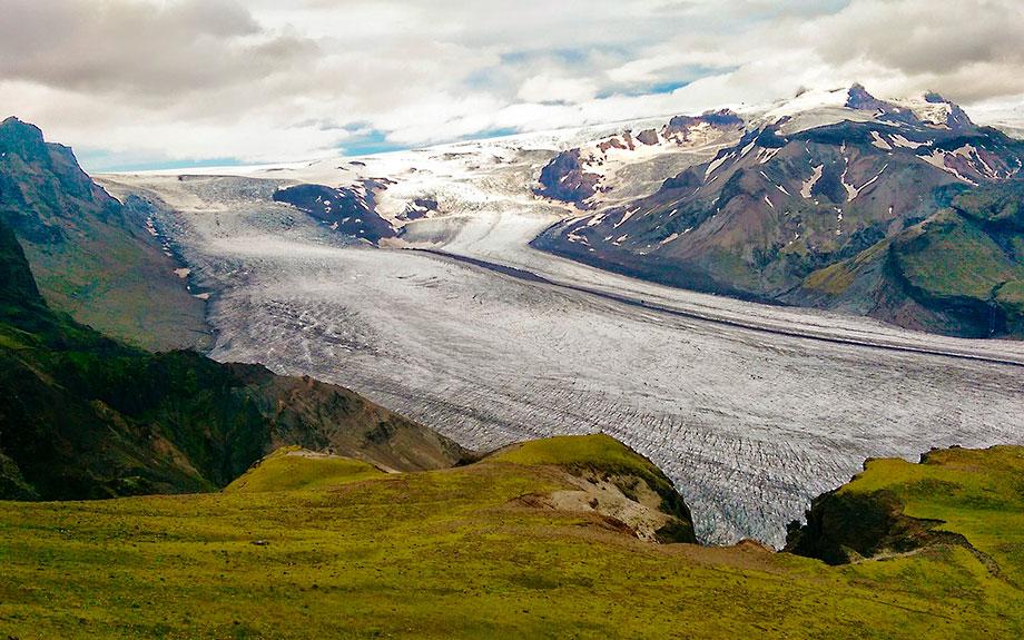 lingua di ghiaccio del Vatnajökull