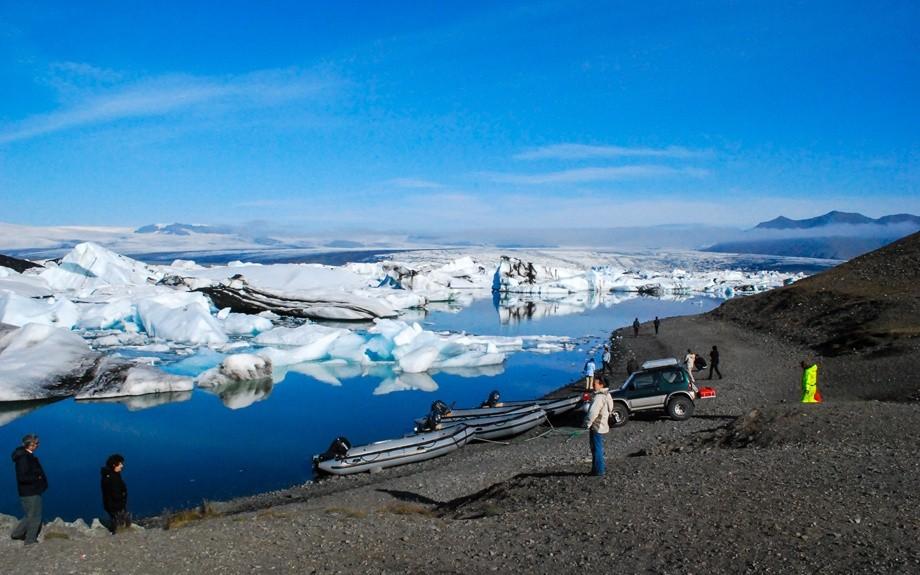 veduta della laguna glaciale di Jökullsárlón